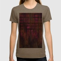 Lined Rainbow Rusted Metal Look Womens Fitted Tee Tri-Coffee SMALL
