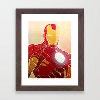Iron Man Armor Framed Art Print
