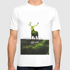 stay wild Mens Fitted Tee SMALL White