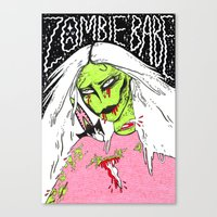 Zombie Babe Canvas Print