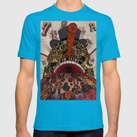 Swallow Frogs Mens Fitted Tee Teal SMALL