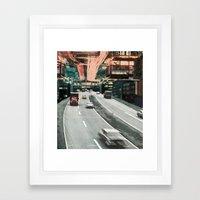 Motor Away Framed Art Print