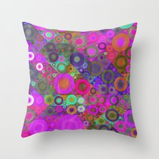 Quilted Circles Pattern Throw Pillow