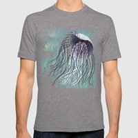 Blue Jelly Mens Fitted Tee Tri-Grey SMALL