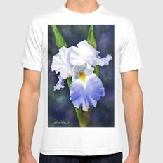 Susan's Blue Iris Mens Fitted Tee White SMALL