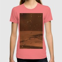 Khaki Bubbles Womens Fitted Tee Pomegranate SMALL
