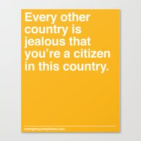 Every Other Country Canvas Print