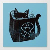 WITCHCRAFT CAT (Blue) Canvas Print
