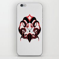 Warrior (Black & Red) iPhone & iPod Skin