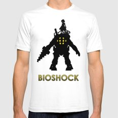 Bioshock White Mens Fitted Tee SMALL