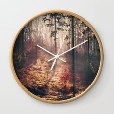 Little Red Tree Wall Clock