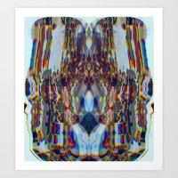CMYK Warp pt.1 Art Print