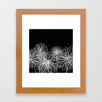 Black Doodle Floral By F… Framed Art Print
