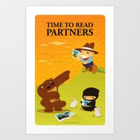Time to read partners Art Print