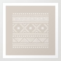 Into the West - in Taupe Art Print