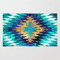 Inverted Navajo Suns Rug