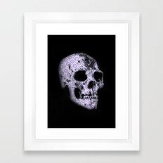 blue print skull Framed Art Print
