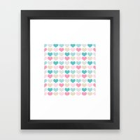sweet hearts Framed Art Print