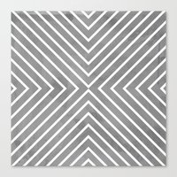 Stripes In Grey Canvas Print