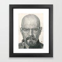 Bryan Cranston ~ Walter … Framed Art Print