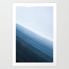 Snow Layers Art Print