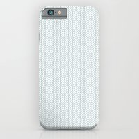 iPhone & iPod Case featuring PATTERN: BLUE WAVE LINES by ajoo