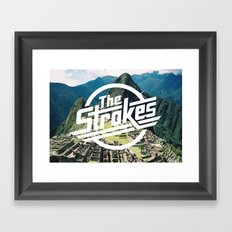 The Strokes Logo Machu Picchu Framed Art Print