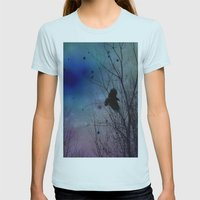 Just Around Midnight Womens Fitted Tee Light Blue SMALL