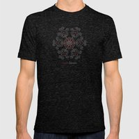 Hungarian Embroidery no.16 Mens Fitted Tee Tri-Black SMALL