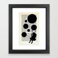 Playing with my Shadows Framed Art Print