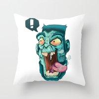 Zombie. Throw Pillow