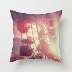 meet me at the fair Throw Pillow