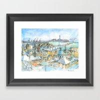 Il Porto (view of Genoa) Framed Art Print