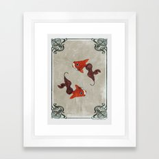 Peony gold fish Framed Art Print