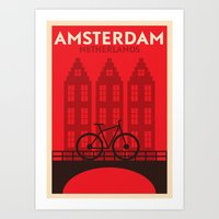 Amsterdam City Art Print