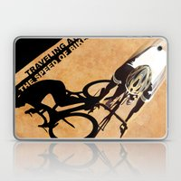 TRAVELING AT THE SPEED OF BIKE Laptop & iPad Skin