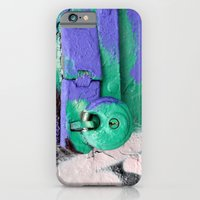 iPhone & iPod Case featuring Purple and green lock by Marieken