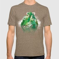 Mysterious Island Mens Fitted Tee Tri-Coffee SMALL