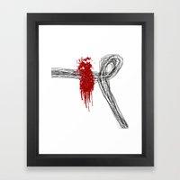 Blood On The Outside Framed Art Print