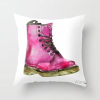 Dr Martens Throw Pillow