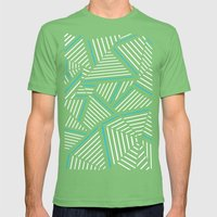 Ab Linear Inverted with Electric Mens Fitted Tee Grass SMALL