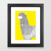 Yellow-Alpaca Framed Art Print