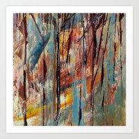 Color Texture History 1 Art Print