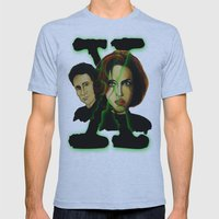 X-files 2 Mens Fitted Tee Athletic Blue SMALL