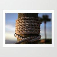Dock Rope  Art Print