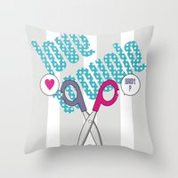 LOVE TROUBLE Throw Pillow