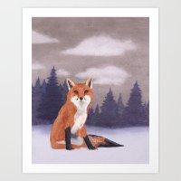 Lone Fox Art Print