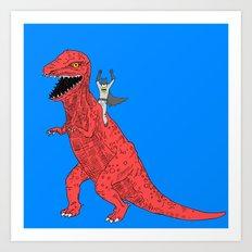 Dinosaur B Forever Art Print