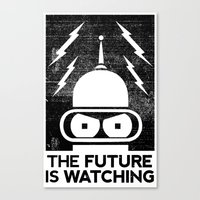 The Future Is Watching Canvas Print