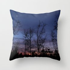 The line between night and day Throw Pillow